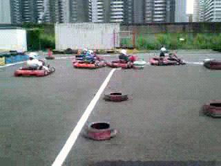 Kartoff♪ Exhibition Race カートオフ エキシビションレース City Kart シティカート Rental レンタルカート 1コーナー進入2 1Corner